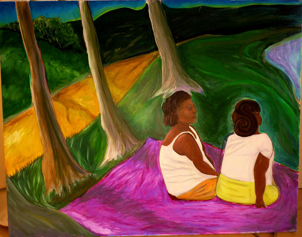 two women in the park 2010 Discovering African feminism
