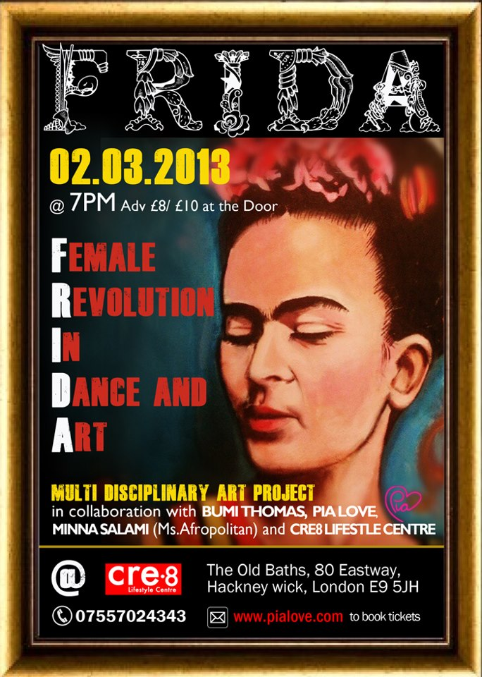 FRIDA International Womens Month event for your diary: FRIDA – Female Revolution In Dance & Art