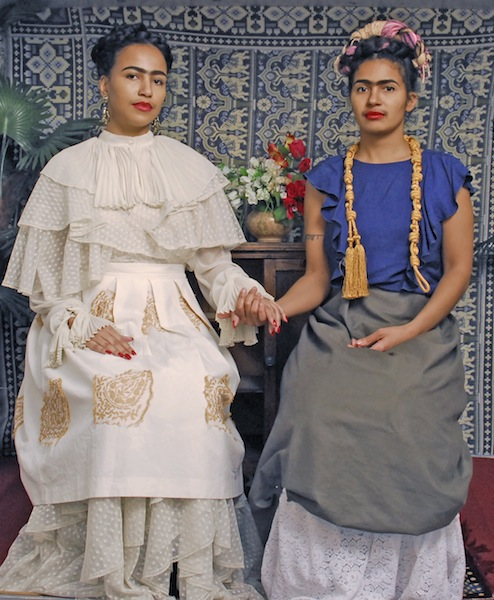 2 Fridasb Dressing up as Frida Kahlo