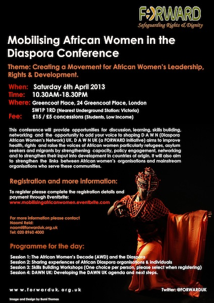 FORWARD FLYER1 Mobilising African Women in the Diaspora   FORWARD Conference