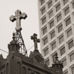 Cross in chinatown