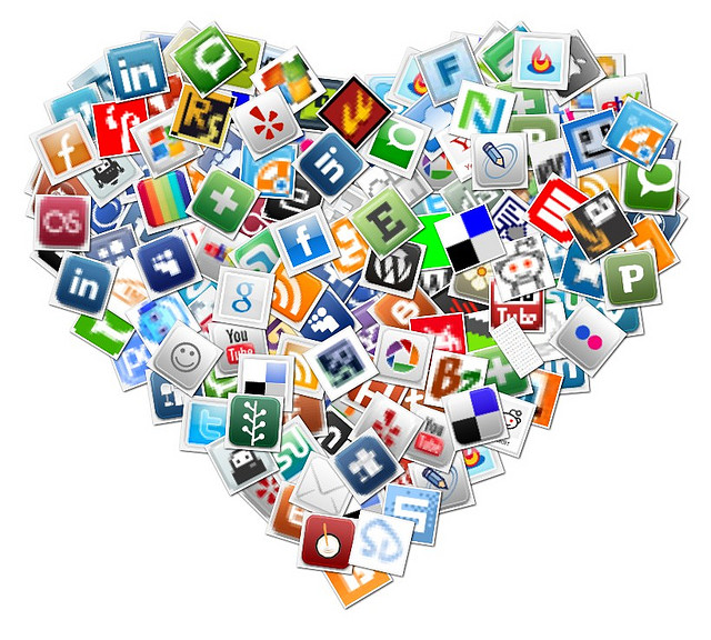 Social Media Heart Collage