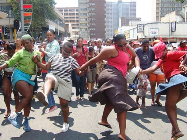 South Africa miniskirt protest