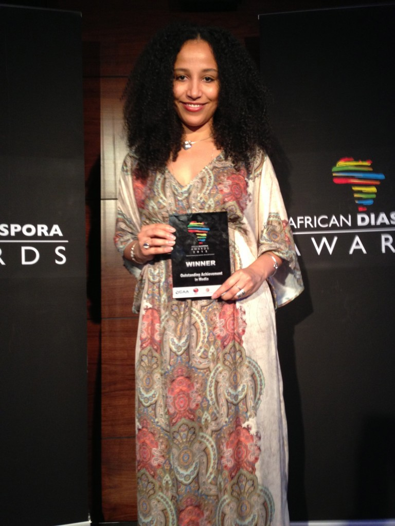 IMG 0229 768x1024 Winner of the Outstanding Achievement in Media Award at the African Diaspora Awards!