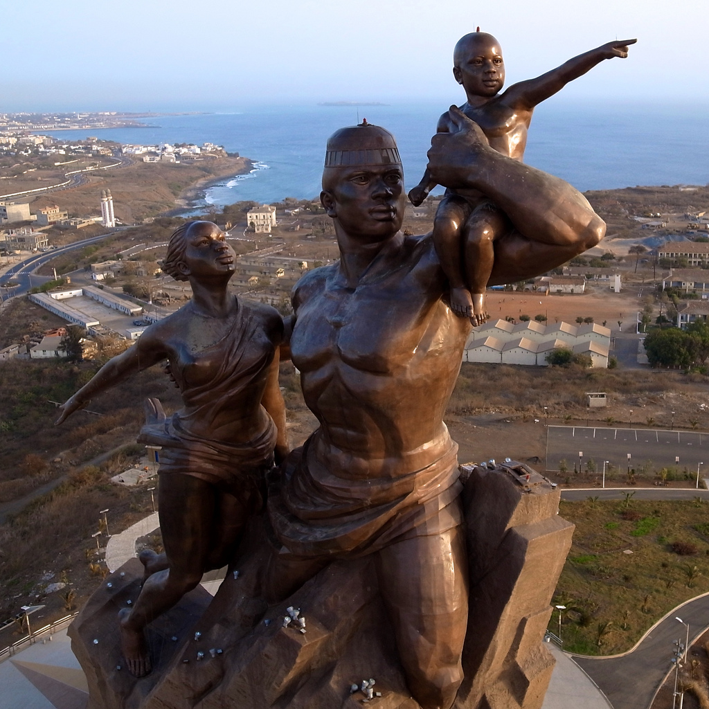 African Renaissance Monument – From Above