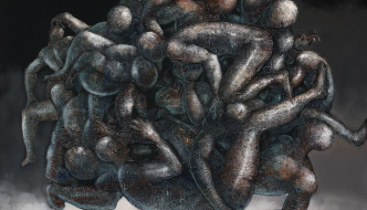 We - Inspired by Gra Gra by Segun Aiyesan [5x6ft - Mixed Media on Canvas]  Read more below