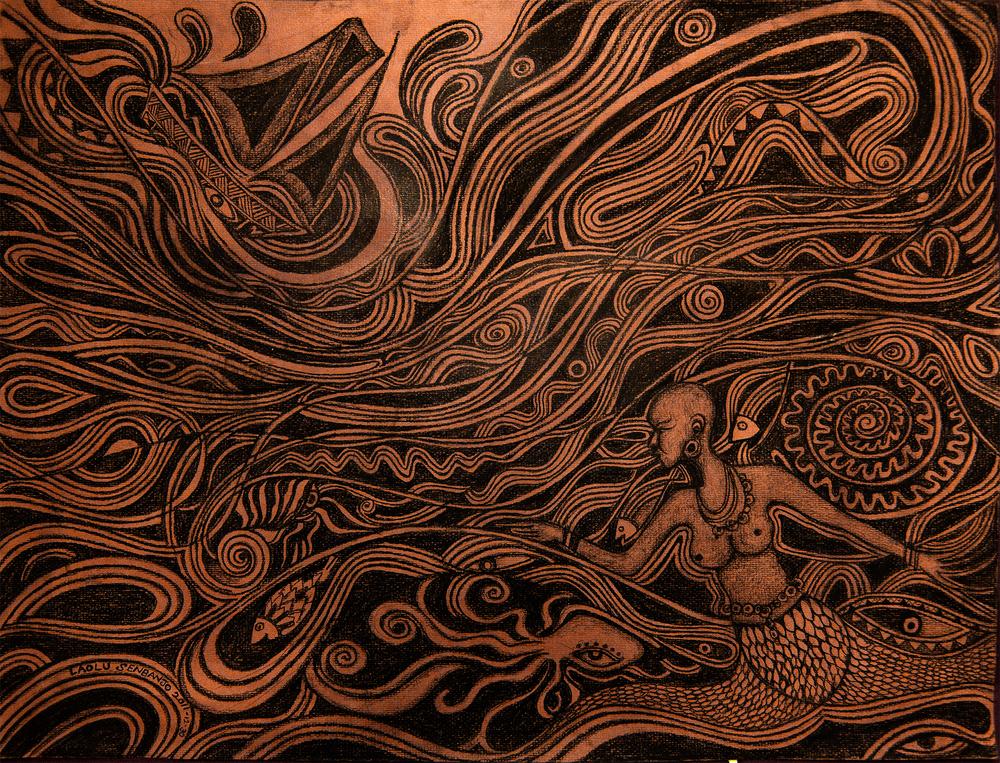 Laolu Senbanjo Afromysterics series http://laolusenbanjo.com/